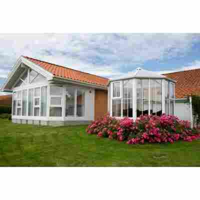 Gartenpavillon 'Gozo SL3 1100' weiß/klar 266 x 288 cm