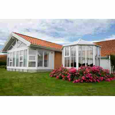 Gartenpavillon 'Gozo SL3 1100' weiß/opal 314 x 295 cm