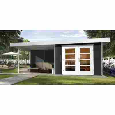 Gartenhaus '126 B' anthrazit, 590 x 241 cm