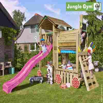 Spielturm Jungle Cottage & Zuganbau mit Klettergerüst