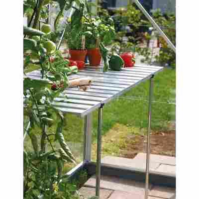 Abklappbarer Alu-Tisch für Gewächshäuser silbern