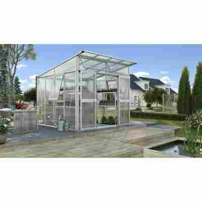Gewächshaus 'Aphrodite 7800' aluminiumfarben 270 x 275 cm