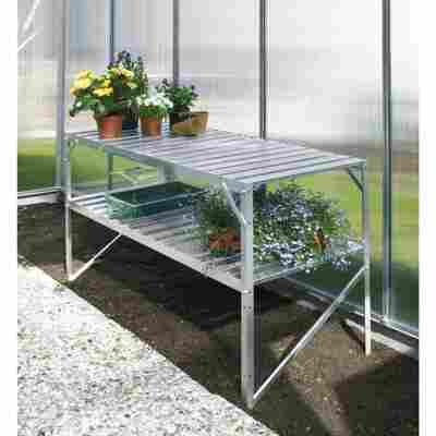 Alu-Tisch 2 Ebenen für Gewächshäuser