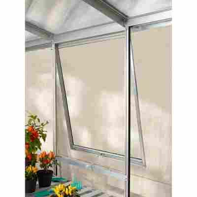 Alu-Seitenfenster 'V' aluminiumfarben 59 x 79,2 cm für Gewächshäuser