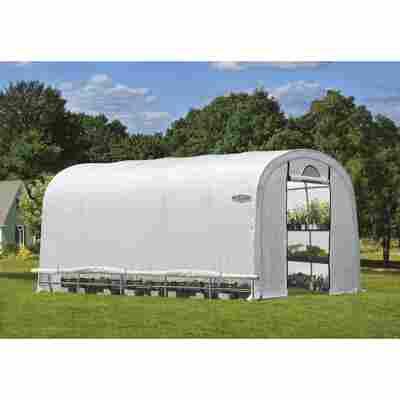 Foliengewächshaus 'Portia M' weiß 390 x 370 x 610 cm