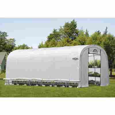 Foliengewächshaus 'Portia L' weiß 370 x 240 x 730 cm