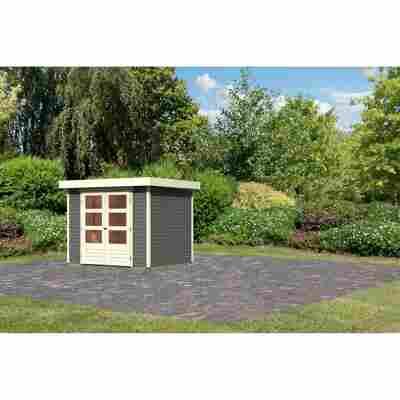 Gartenhaus 'Dornhan 3' 242 x 217 x 211 cm terragrau
