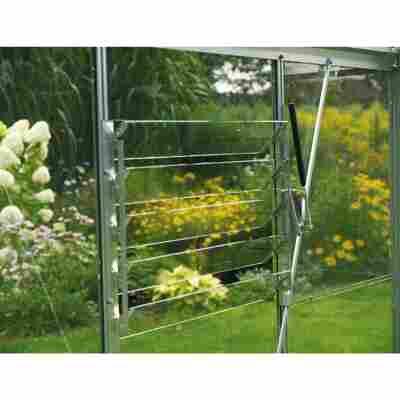 Lamellen-Wandfenster aus Aluminium silbern