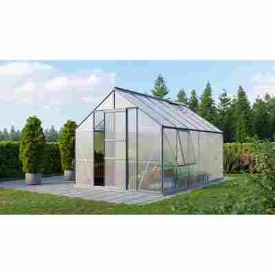 Gewächshaus 'Meridian 1 9900' 6 mm aluminiumfarben 254 x 379 cm