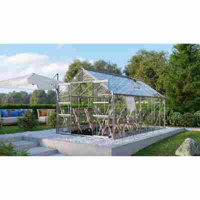Gewächshaus 'Meridian 2 11500' 3 mm aluminiumfarben 254 x 441 cm