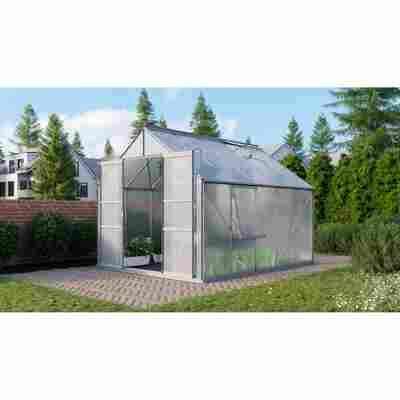 Gewächshaus 'Meridian 2 8300' 4 mm aluminiumfarben 254 x 317 cm