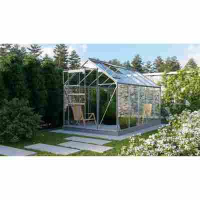 Gewächshaus 'Planet 6200' 3 mm aluminiumfarben 192 x 317 cm