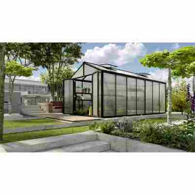Gewächshaus 'Zeus Comfort 13800' 16 mm schwarz 266 x 547 cm