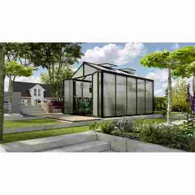 Gewächshaus 'Zeus Comfort 10000' 16 mm schwarz 266 x 399 cm