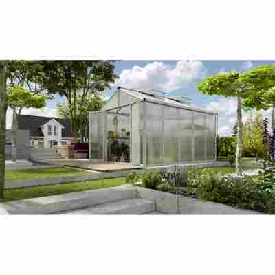 Gewächshaus 'Zeus Comfort 10000' 16 mm aluminiumfarben 266 x 399 cm