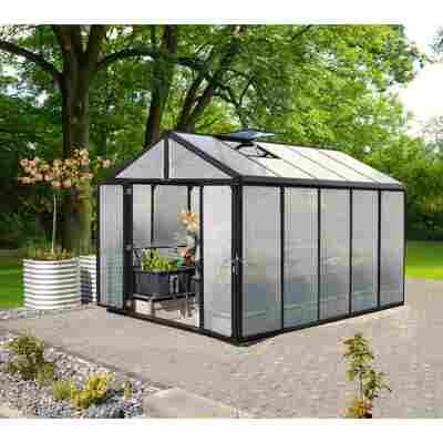 Gewächshaus 'Zeus Comfort 10000' 10 mm schwarz 266 x 399 cm