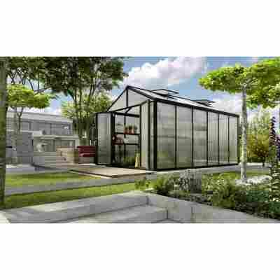 Gewächshaus 'Zeus Comfort 11900' 16 mm schwarz 266 x 473 cm