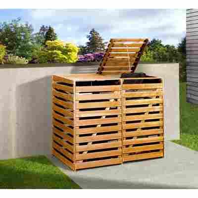 Mülltonnenbox honigbraun 148 x 122 x 92 cm
