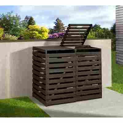 Mülltonnenbox anthrazit 148 x 122 x 92 cm