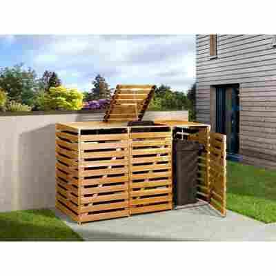 Mülltonnenbox honigbraun 219 x 122 x 92 cm