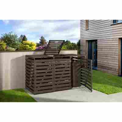 Mülltonnenbox anthrazit 219 x 122 x 92 cm