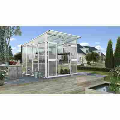 Gewächshaus 'Aphrodite 7800' weiß 270 x 275 cm
