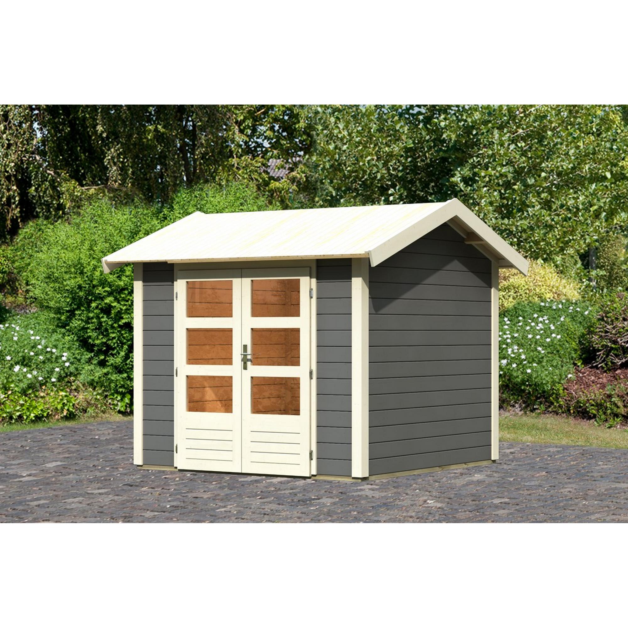 *Karibu Gartenhaus 'Mylau 3' 501 x 217 x 211 cm terragrau*