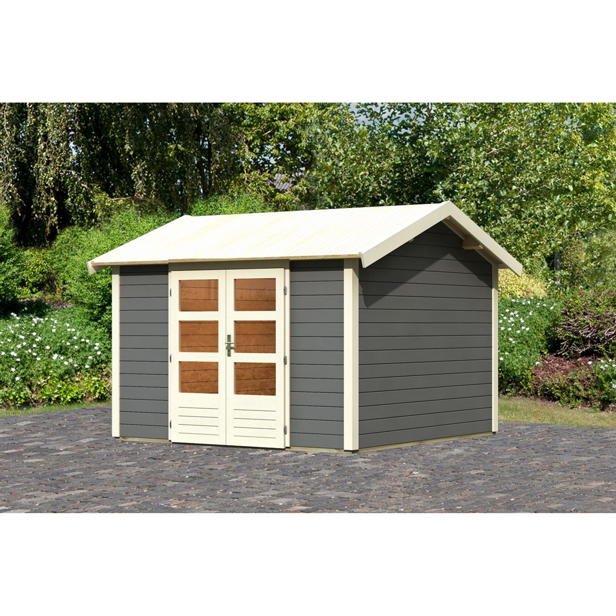 *Karibu Gartenhaus 'Mylau 7' 244 x 244 x 222 cm (BxTxH) terragrau*
