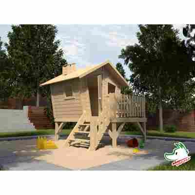 Kinderspielhaus auf Steltzen 'Lotti' mit Rutsche, 278 x 200 cm