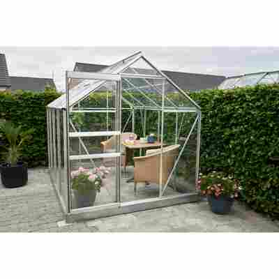 Gewächshaus 'Popular 86' 5,0 m² Blankglas 3 mm Alu