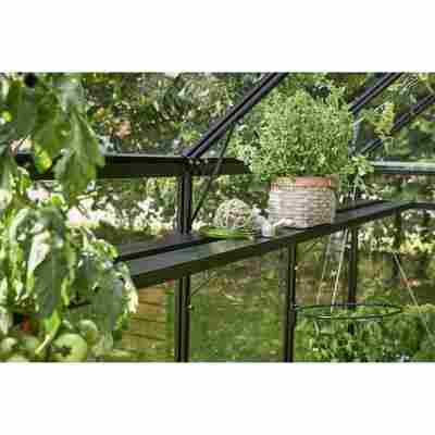 Regal für Gewächshaus 'Gärtner' schwarz 432 x 19,5 x 2,5 cm