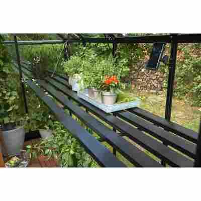 Tisch für Gewächshaus 'Compact' schwarz 361 x 74 x 2,5 cm