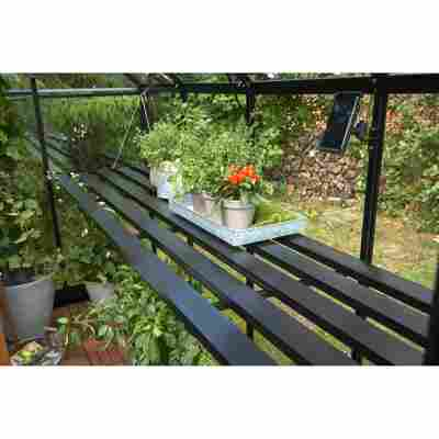 Tisch für Gewächshaus 'Gärtner' schwarz 576 x 74 x 2,5 cm