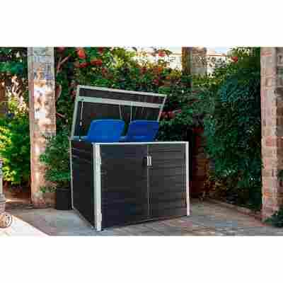 Mülltonnenbox WPC 151 x 95 x 118 cm