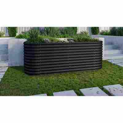Hochbeet-Erweiterung 'Stretched 858' schwarz, 80 x 86 cm