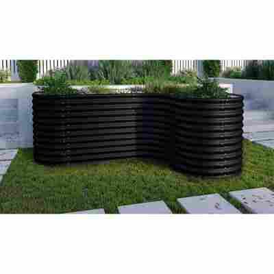 Hochbeet-Erweiterung 'Curve 858' schwarz, 80 x 80 x 86 cm