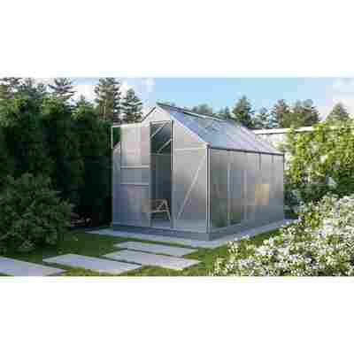 Gewächshaus 'Planet 6200' 6 mm aluminiumfarben 192,2 x 316,6 cm