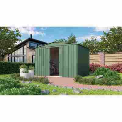 Metallgerätehaus 'Dream G1010' jadefarben 295 x 299 cm