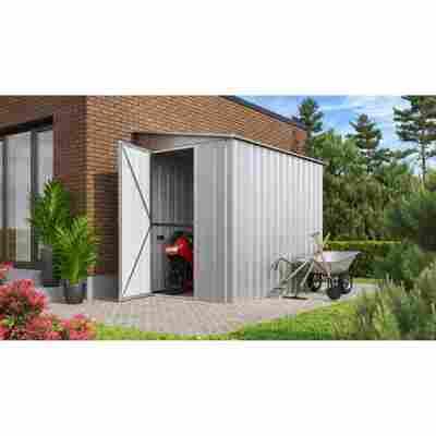 Anlehn-Gerätehaus 'Lean-To L58' silber-metallic 144 x 234 cm