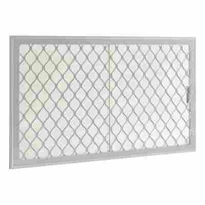 Seitenfenster für Gerätehäuser silber-metallic 75 x 124 cm