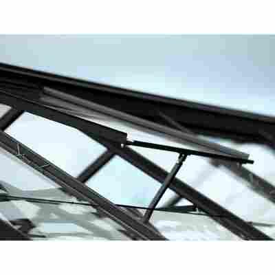 Dachfenster für Gewächshäuser, Aluminium, schwarz 62 x 55 cm