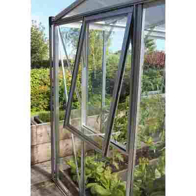 Seitenfenster für Gewächshäuser 'Zeus Comfort/Fortuna' aluminiumfarben