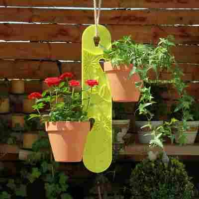 Blumenampel 'Kiwi' grün 10 x 1,8 x 50 cm