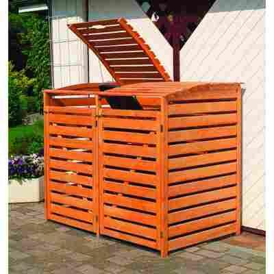 Mülltonnenbox 'Vario III' honigbraun 148 x 122 x 92 cm