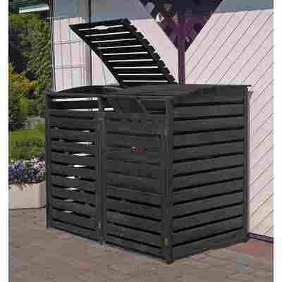 Mülltonnenbox 'Vario III' anthrazitfarben 148 x 122 x 92 cm