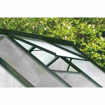 Alu-Dachfenster für Gewächshaus 'Calypso' grün 60,2 x 73,6 cm
