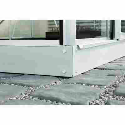 Fundament für Gewächshäuser 'Venus 5000' aluminiumfarben 254 x 192 cm