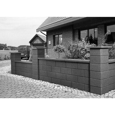mauerstein bellamur halbstein beton 25 x 25 x 20 cm rotbraun toom baumarkt. Black Bedroom Furniture Sets. Home Design Ideas