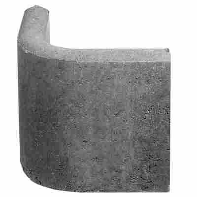 Raseneinfassung 'Rasenbord' Rundwinkel 90° 5 x 25 x 25 cm grau