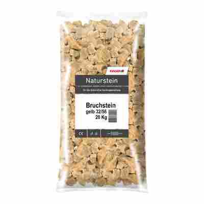 Bruchstein 32/56 20 kg gelb